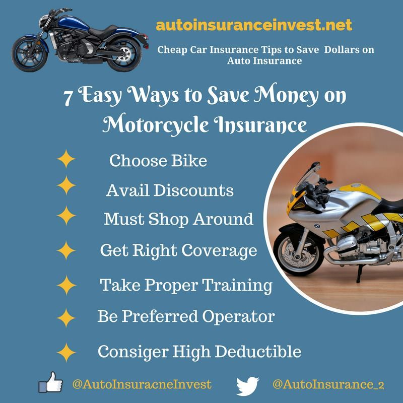 7 Easy Ways To Save Money On Motorcycle Insurance Motorcycle