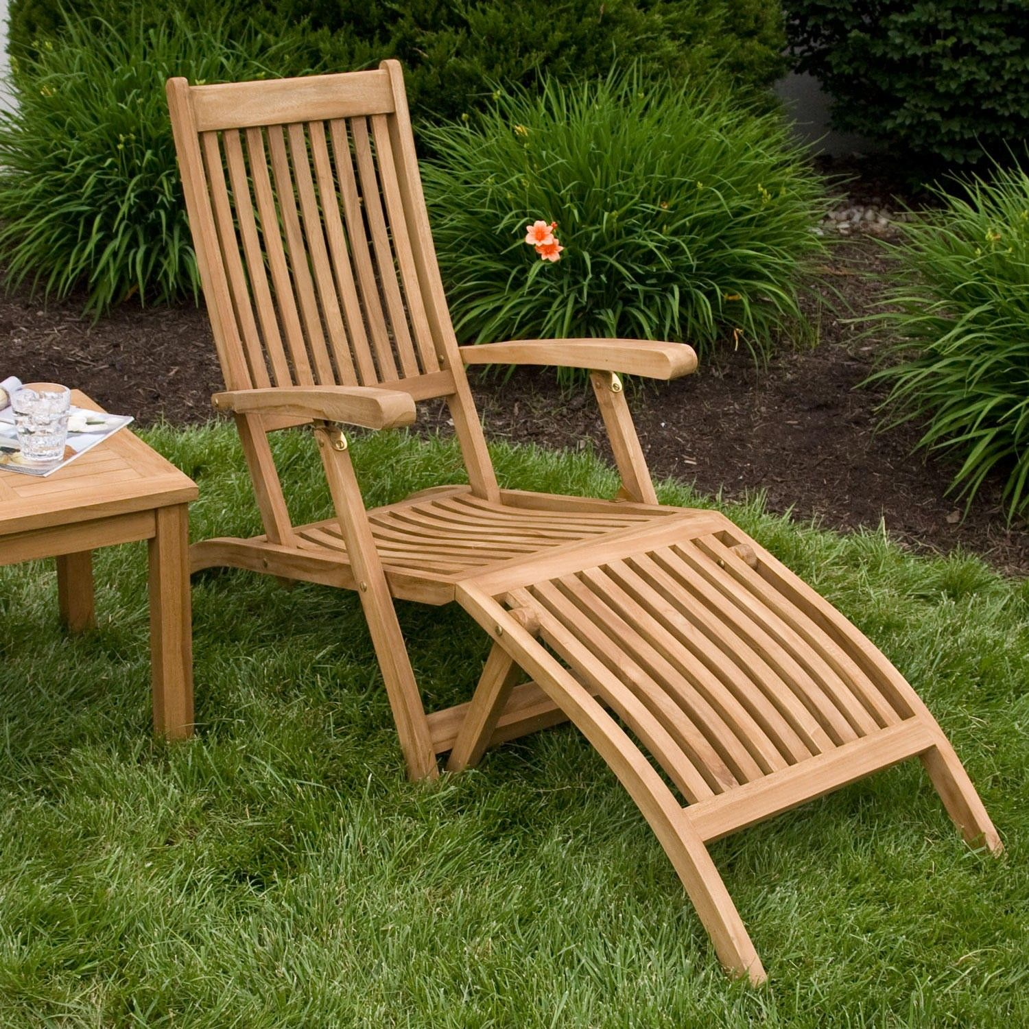 Teak Chaise Lounge Chairs Pin By Martha Ladies On Ideas For The House Wood Patio Furniture