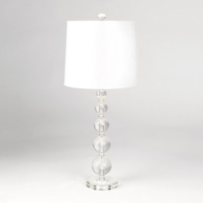Clear stacked crystal table lamp bedroom lamps bedrooms and clear stacked crystal table lamp aloadofball