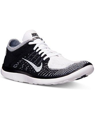 Nike Men s Free Flyknit 4.0 Running Sneakers from Finish Line - Finish Line  Athletic Shoes - Men - Macy s 68b604b08