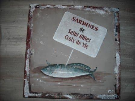Cours De Peinture Decorative Acrylique Dessin Sardine De Saint
