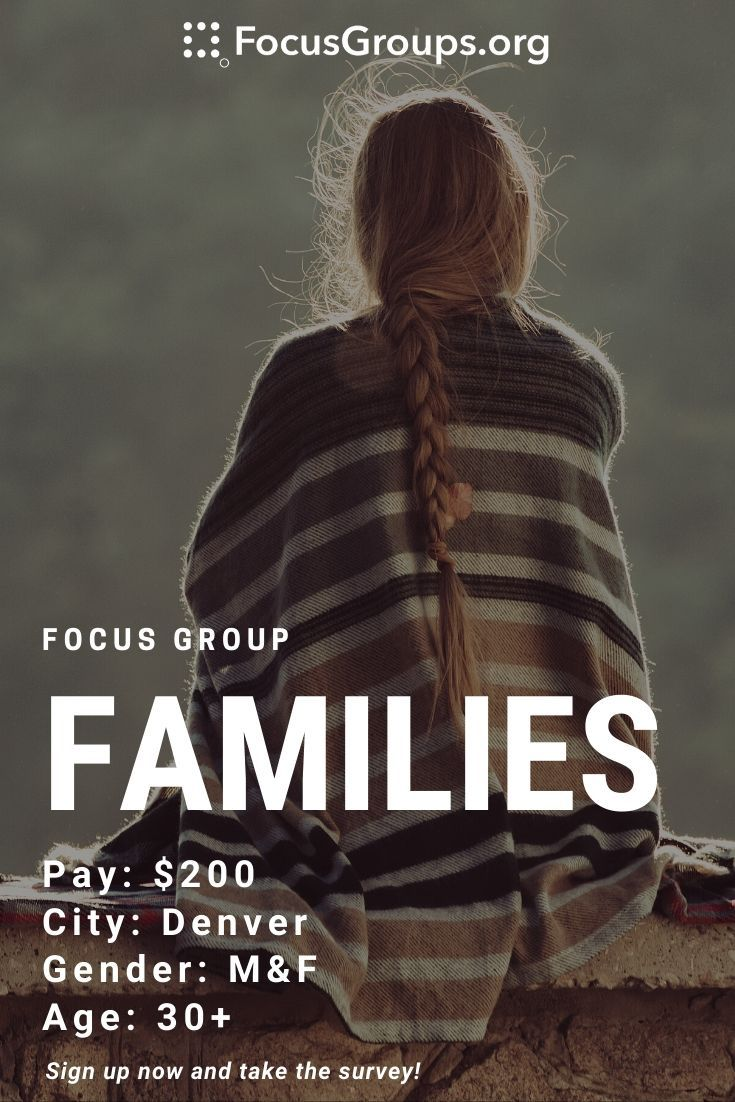 Online Focus Group on Families in 2020 Focus group