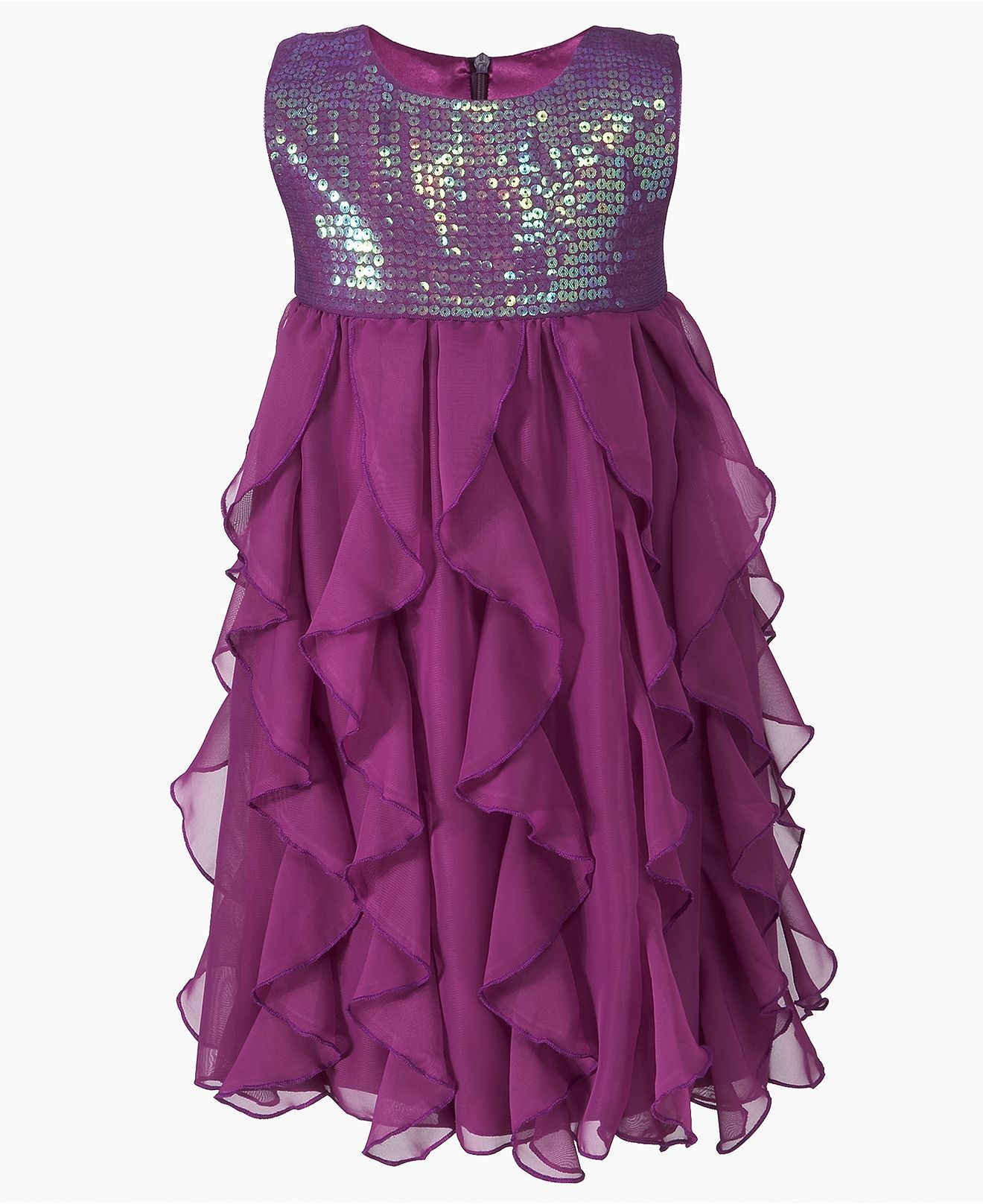 DKNY Girls Dress, Little Girls Sequin Chiffon Dress - Toddler Girls (2T-5T)  - Kids & Baby - Macy's