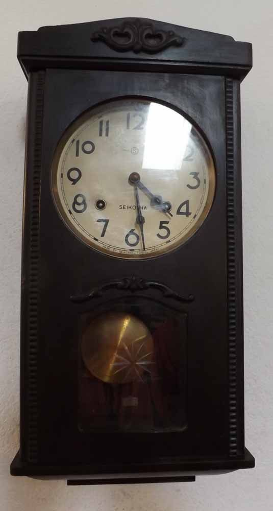 Rare Antique Seikosha Wall Clock Made In Tokyo Japan