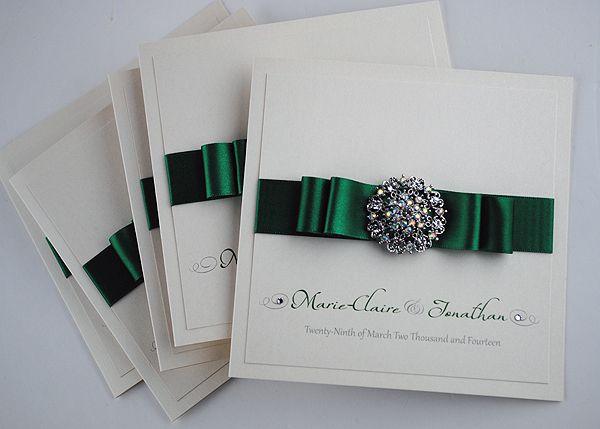 Emerald Green Paris Wedding Invitations