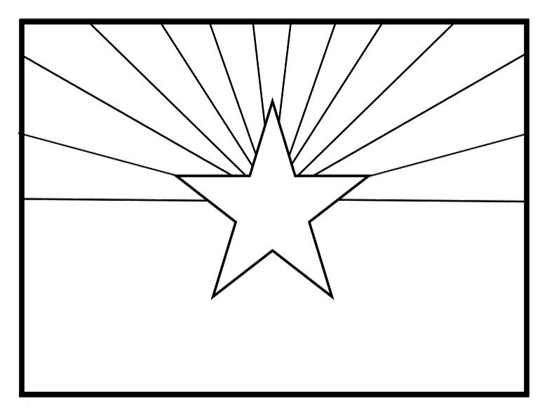 The Flag Of Arizona Coloring Pages The Flag Of Arizona Coloring