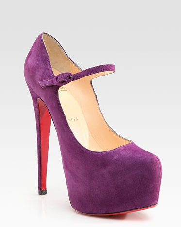 Christian Louboutin Mary Jane Zapatillas fucsia