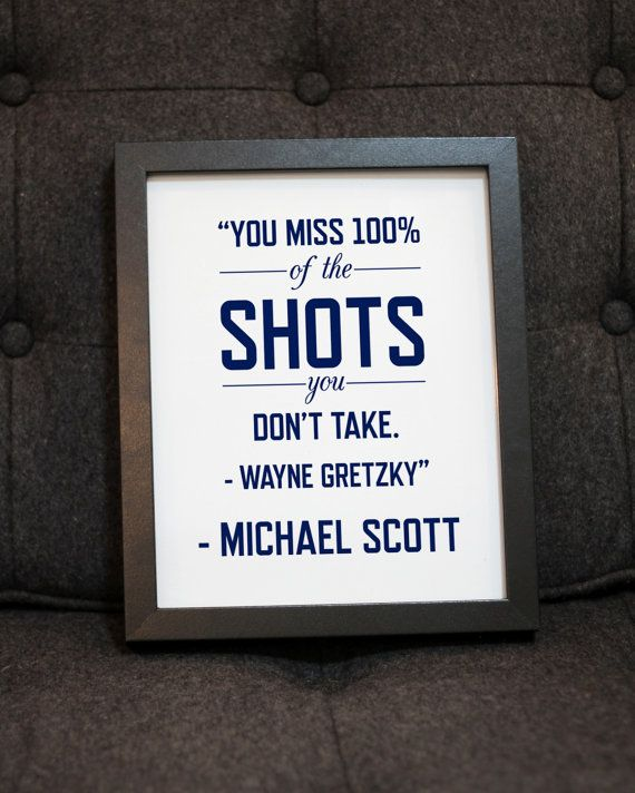 Michael Scott Quote The Office Wayne Gretzky Quote Graphic Gorgeous Michael Scott Wayne Gretzky Quote