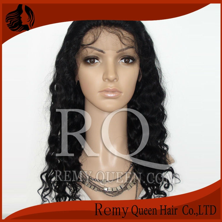 """76.32$  Buy here - http://alitbr.worldwells.pw/go.php?t=1307459374 - """"2016 NEW Queen Hair Products 1# Jet Black Deep Wave Front Lace Wigs Indian Remy Human Hair 8""""""""-24"""""""" UPS Free Shipping FACTORY SALE"""" 76.32$"""