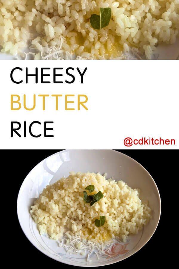 Cheesy Butter Rice Recipe | CDKitchen.com