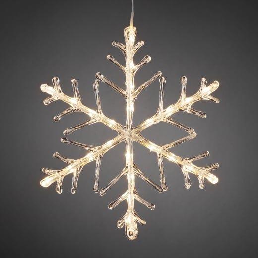Snowflake Outdoor Christmas Light 40cm Warm White Led Battery