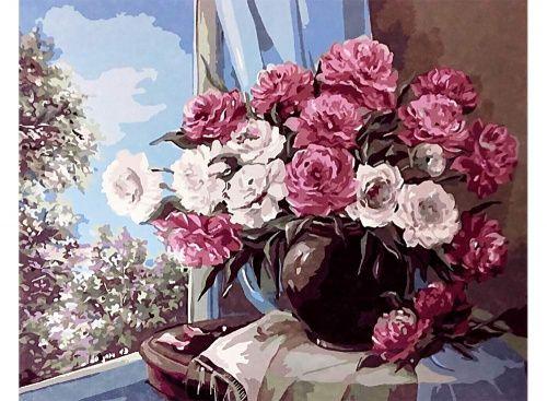 Картина по номерам «Цветочный натюрморт» | Цветочный ...