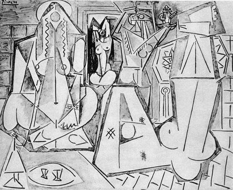 Pablo Picasso, Les femmes d'Alger (Version K) on ArtStack #pablo-picasso #art