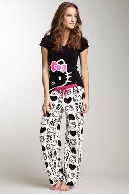 8be48f30f Hello Kitty Logo with Japanese Print Pant | Pajamas | Hello kitty ...