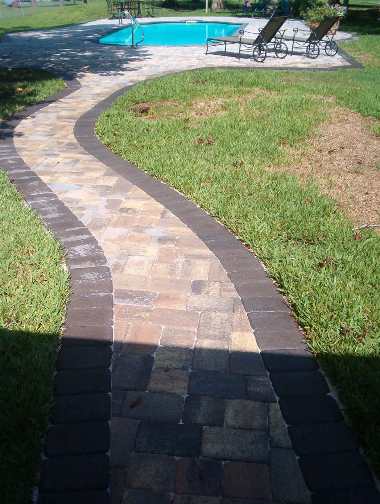 Border Walkway To Pool Deck
