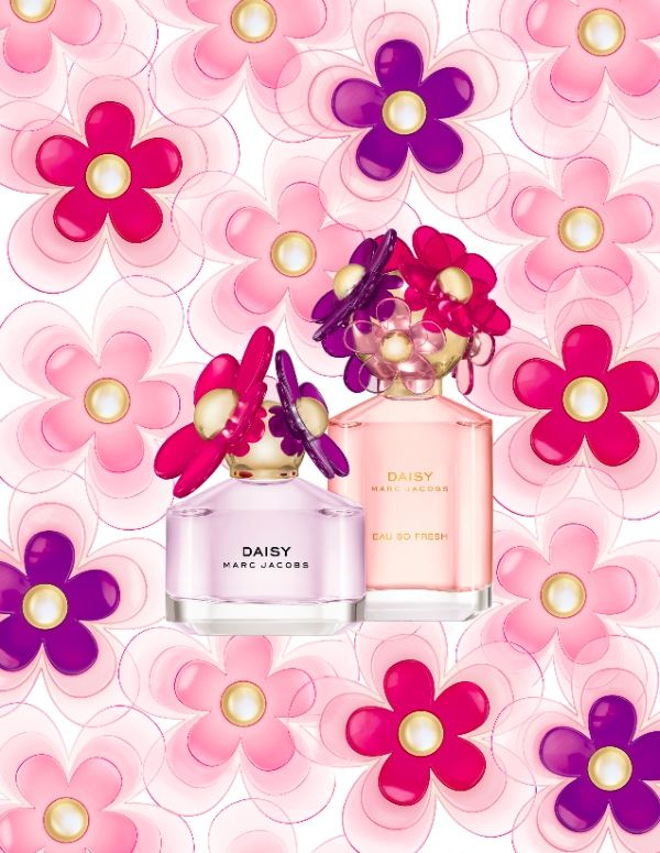 The new floral additions to the Marc Jacobs #Fragrances -Sorbet Edition of the Daisy and Daisy Eau So Fresh #floral #fruity