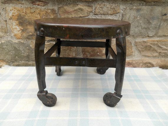 This Toledo Low Stool Was Made In Toledo, Ohio By The Toledo Metal Furniture  Co. It Is An Original Vintage Piece In Good, Sturdy Condition. This Is