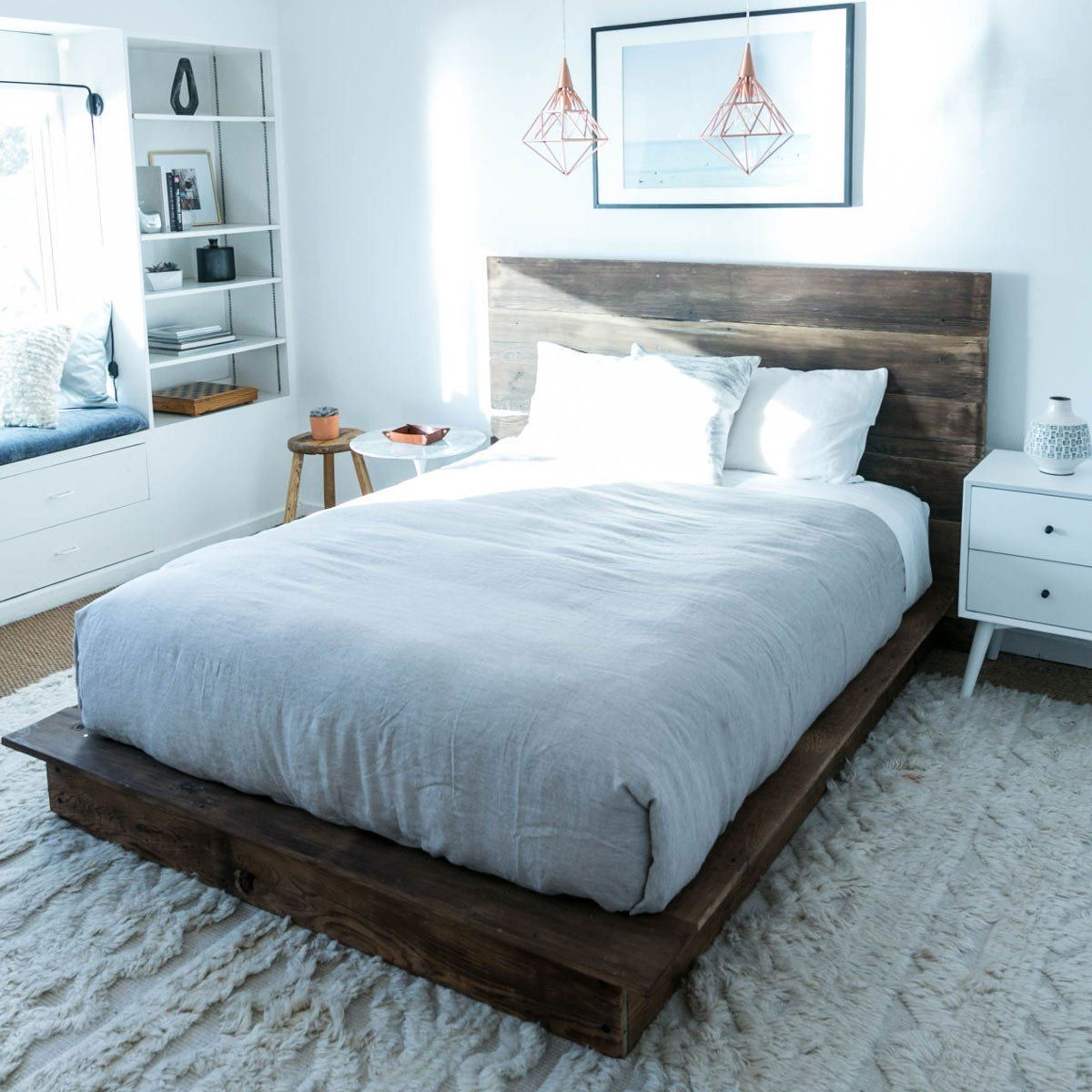10 Awesome DIY Platform Bed Designs -   diy Bed Frame platform