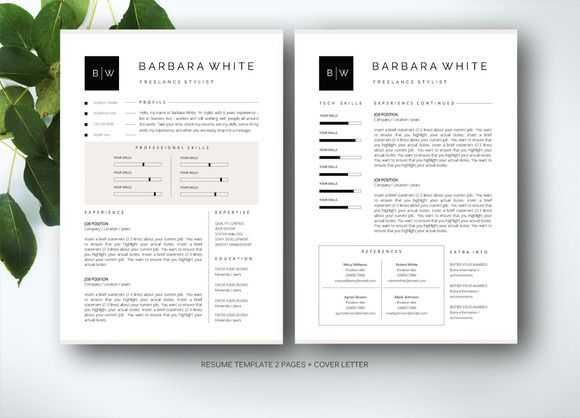 Resume Template For Ms Word Resume Template Resume Design Template Creative Resume Templates