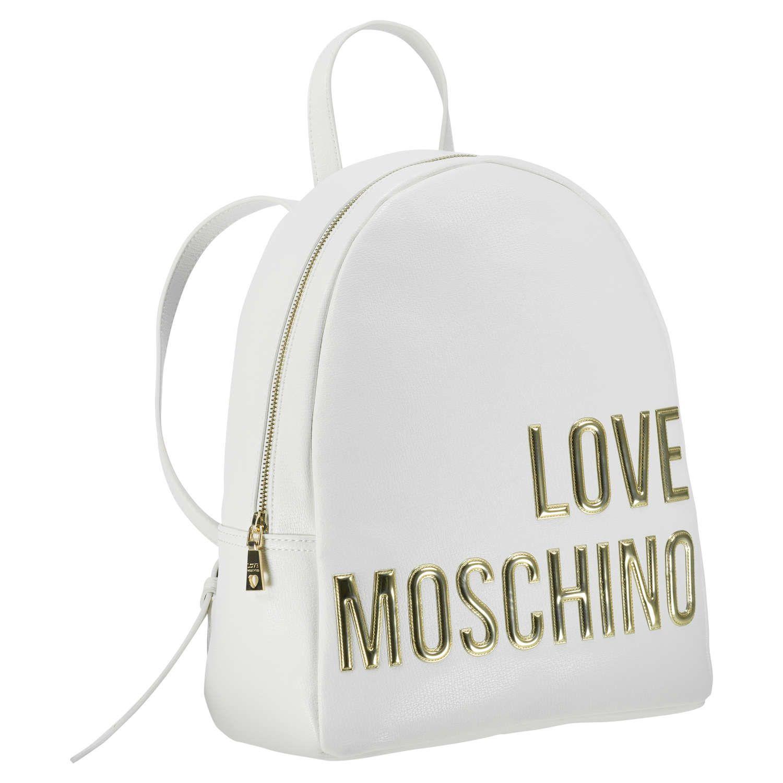 LOVE MOSCHINO Rucksack 'Love' mit Aufschrift ► Der Rucksack LOVE von LOVE MOSCHINO überzeugt mit individueller Note und ist dabei mit Logoaufschrift versehen. Dank des ovalen Designs sorgt er für genügend Platz und lässt sich mit verstellbaren Trägern bequem am Rücken tragen.