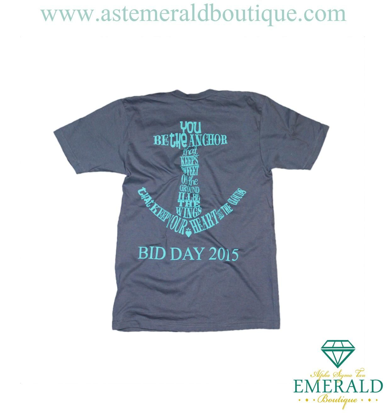 Alpha Sigma Tau Bid Day Anchor V-Neck