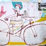 Bicycle Street Art by Mart @Julie Miltimore