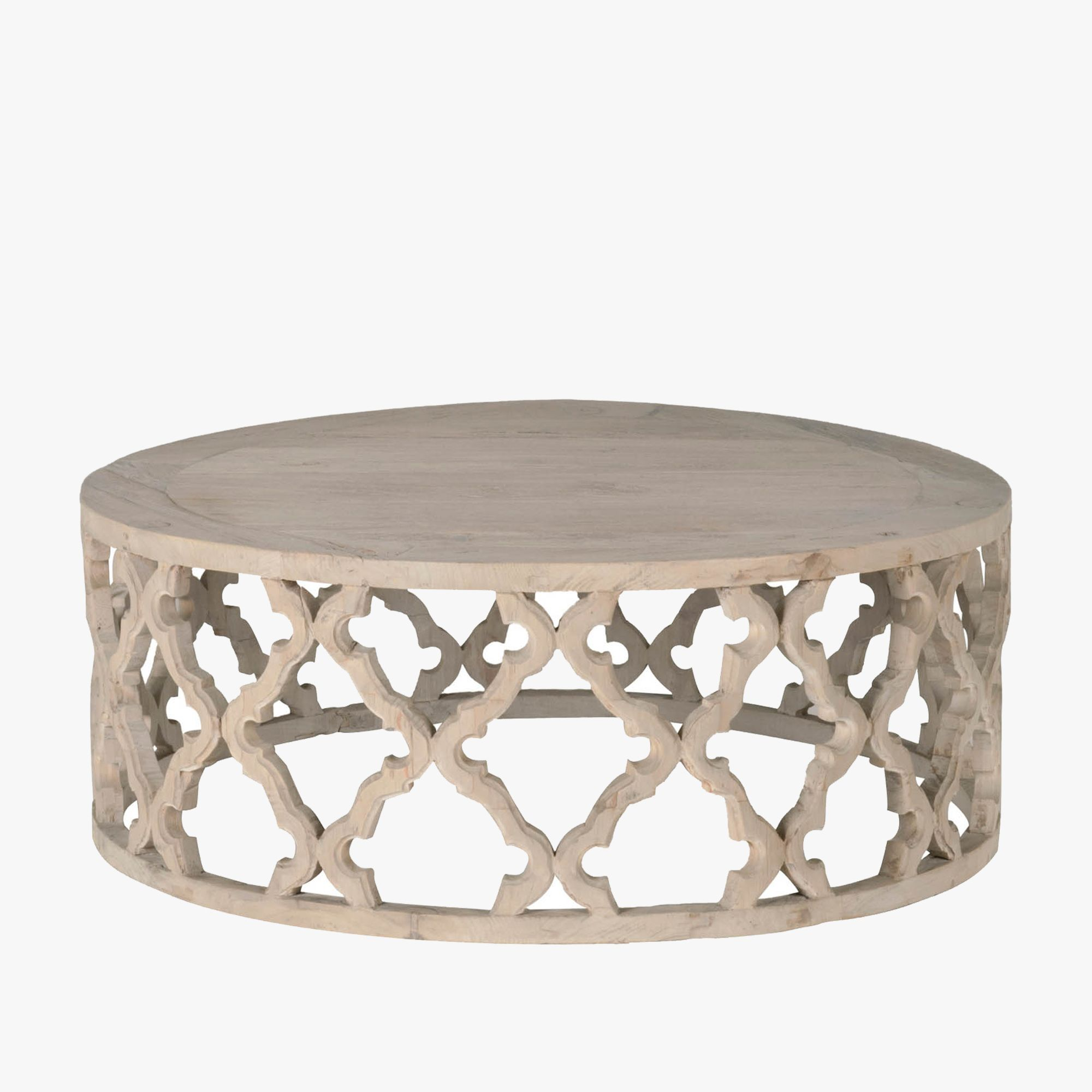 Carved Quatrefoil Coffee Table