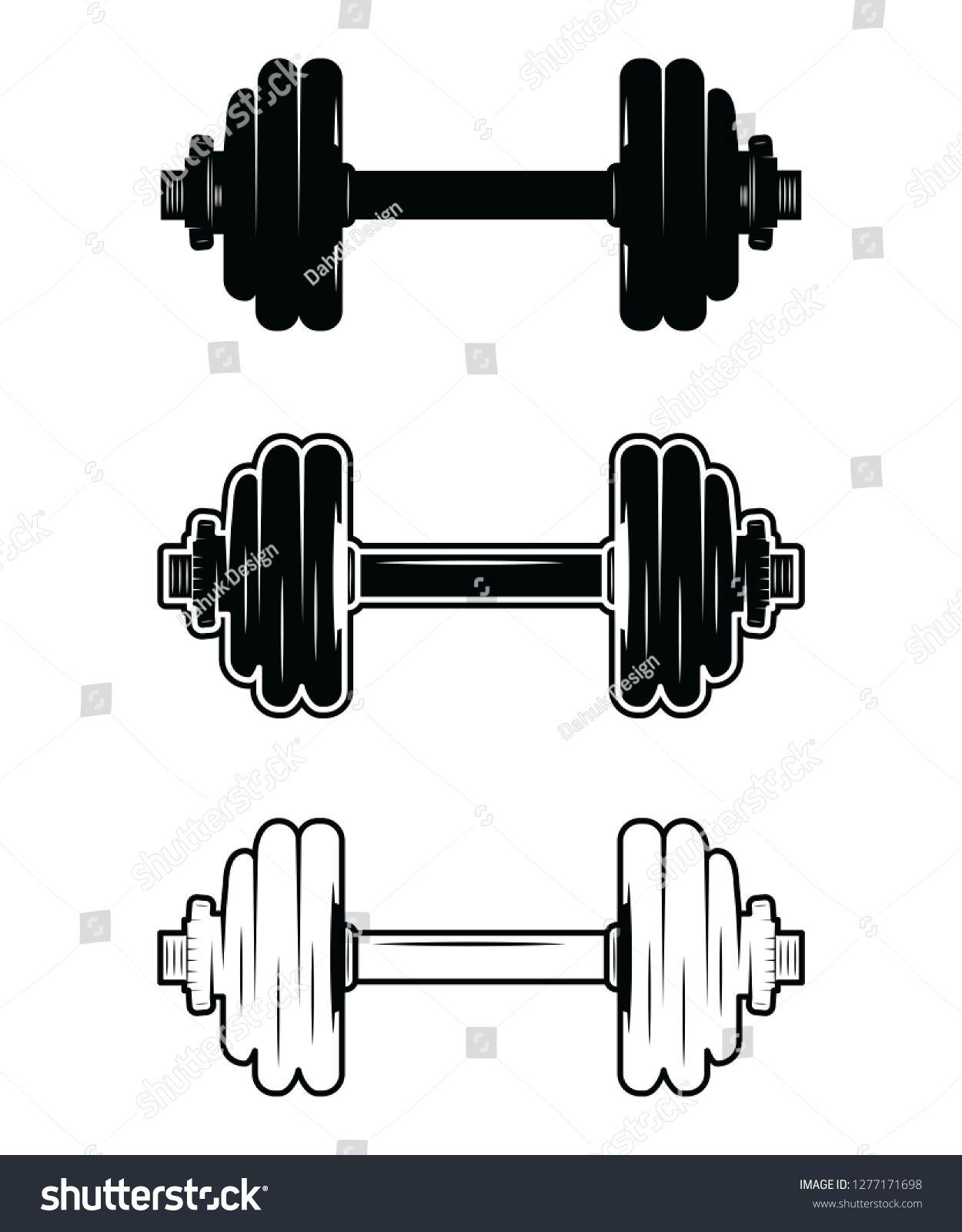 Barbell Dumbbell Gym Fitness Clip Art Ad Affiliate Gym Dumbbell Barbell Art Clip Art Gym Workouts Dumbbell