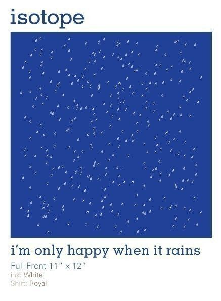 9d7849e974af5 Im only happy when it rains Rain Drop Tshirt SIZES by isotope ...
