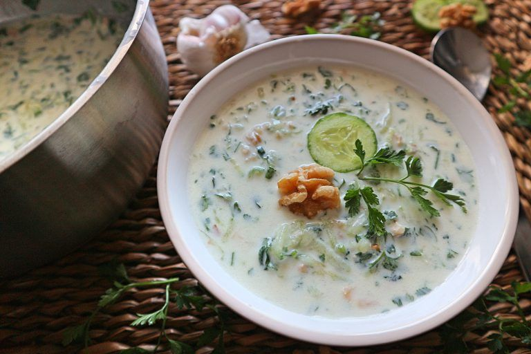 Photo of Cucumber soup with cold yogurt – simple & delicious recipe for …