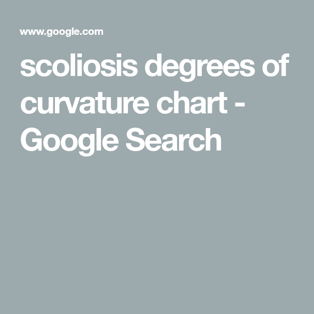 Scoliosis Degrees Of Curvature Chart Google Search Back Surgery