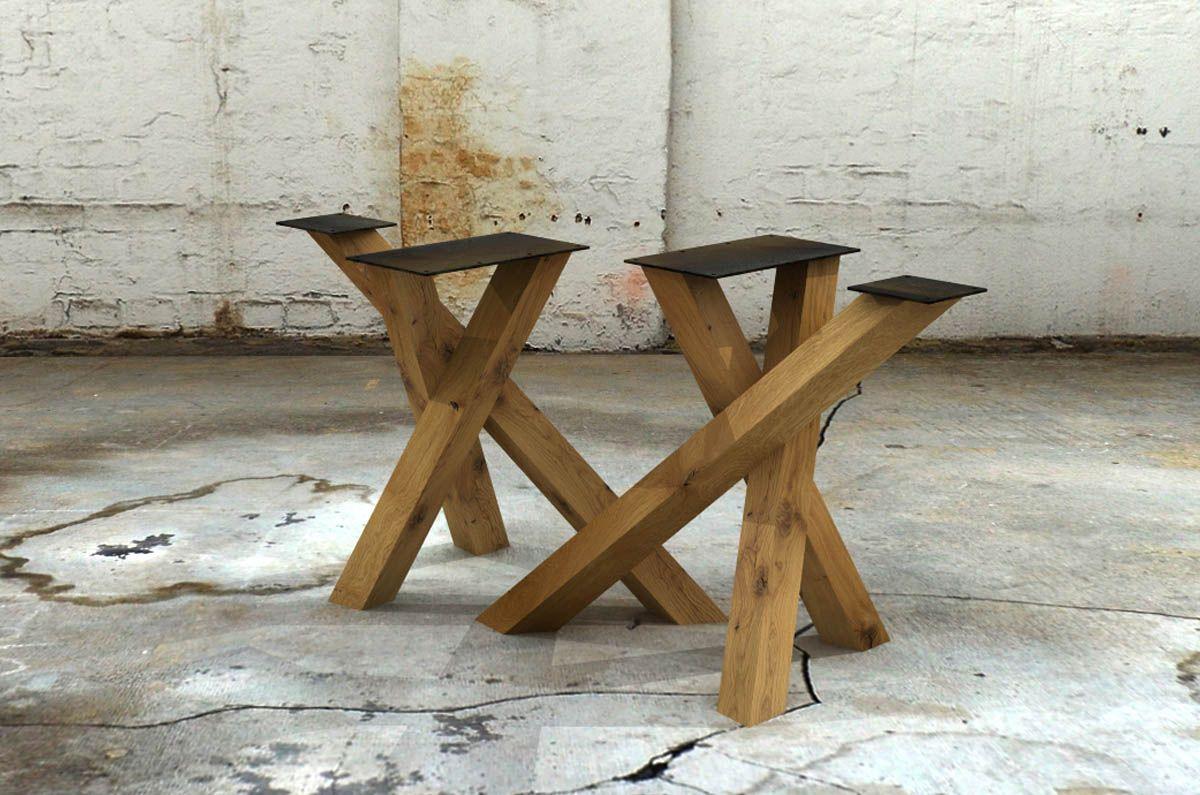 Tischgestell Holz Selber Bauen : holz tischgestell knots 2er set tische in 2019 esstisch holz holztisch und tisch ~ Watch28wear.com Haus und Dekorationen