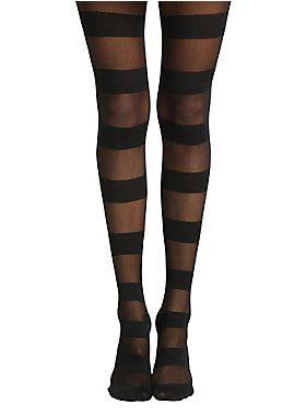 902ecd56a59 Sheer or opaque  Get  em both!     Blackheart Wide Black Stripe Tights
