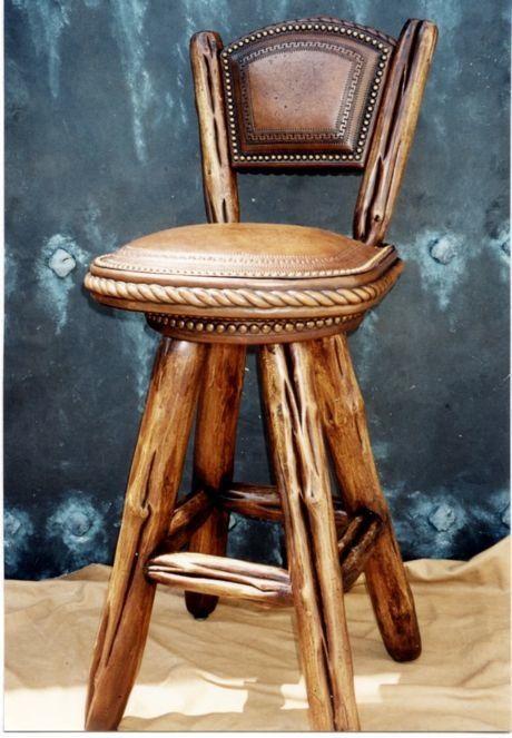 rustic bar stools bar stool stock no r z011 adirondack western rustic swivel bar stool. Black Bedroom Furniture Sets. Home Design Ideas