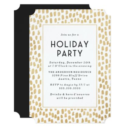 Golden Art Deco Holiday Party Invitation party ideas Pinterest - holiday party invitation