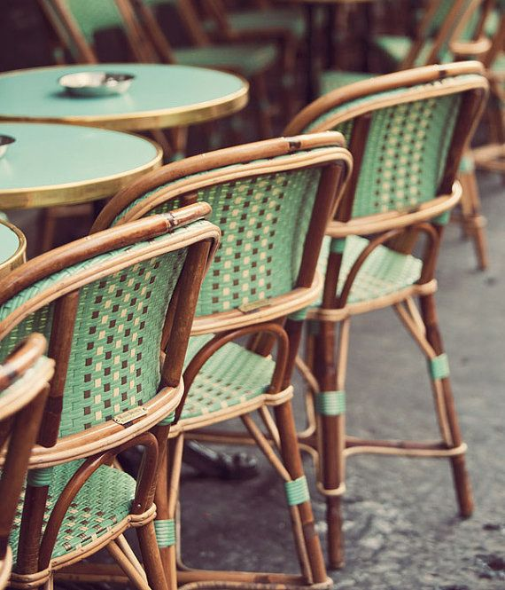 Green Paris Café Chairs