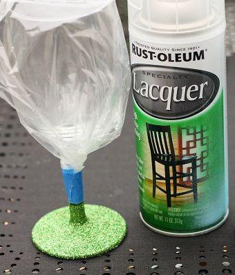 The secret to making glittered glassware washable!