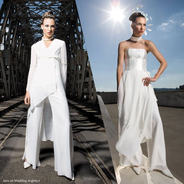 Pronuptia Wedding Dresses Wedding Pantsuit Wedding Dresses