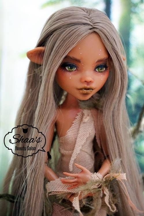 Monster High Custom Oak Repaint Elf Girl Doll.:). #ooakmonsterhigh