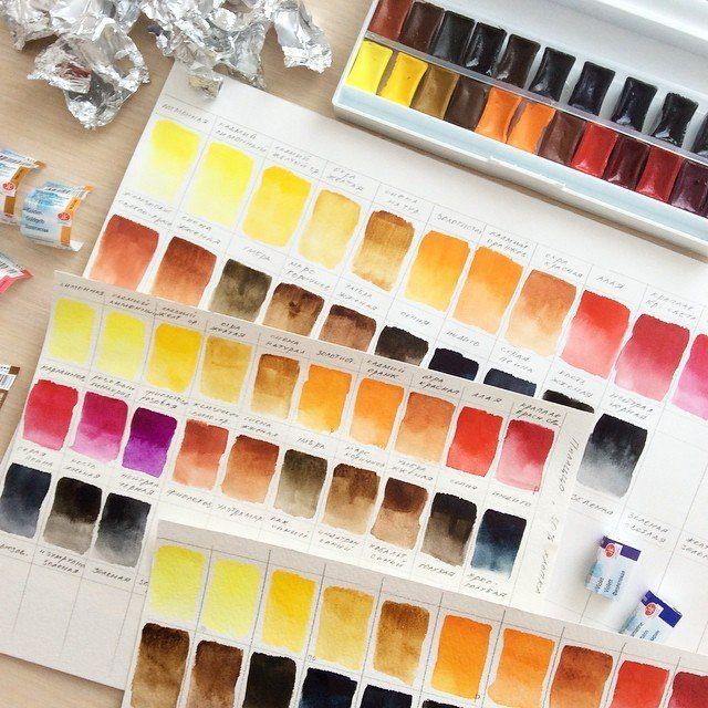 Какие краски оставить в своей палитре? Тестирование акварели.