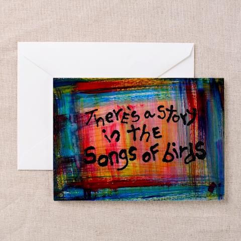birds art quote greeting card