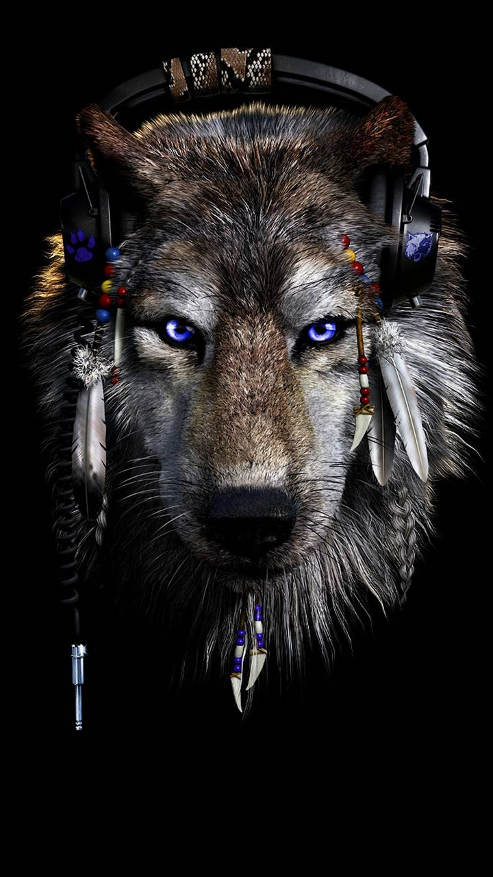 Обои Techno Wolf от Longspoon ea Бесплатно на ZEDGE