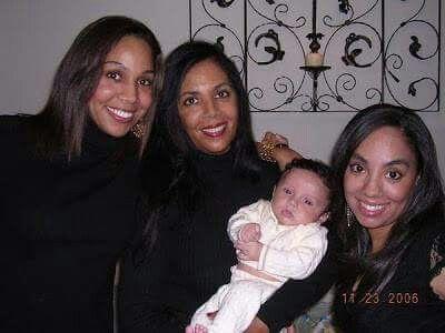Carol Jackson (Marlon Jackson's wife) with daughters and grandson