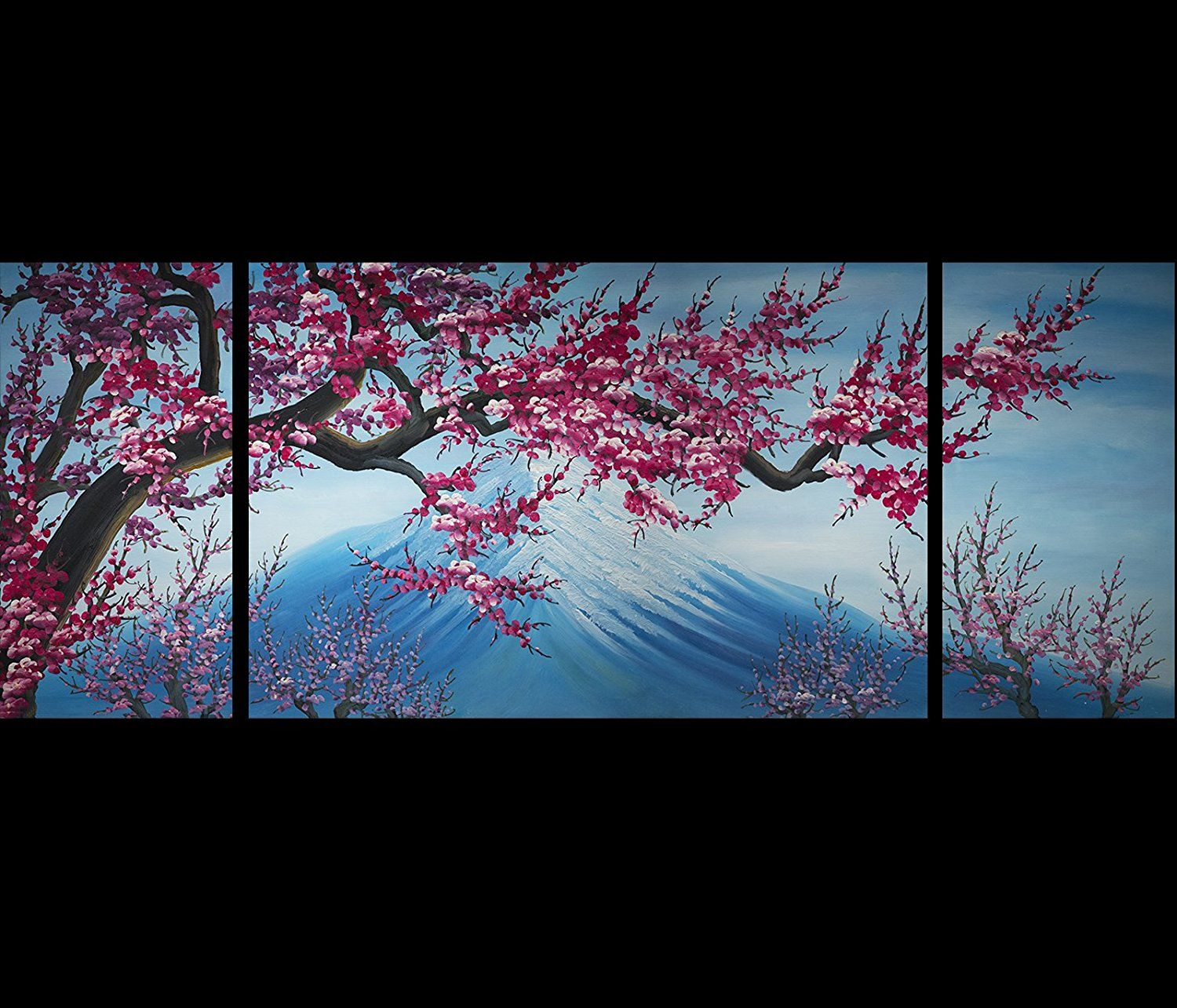 Amazon.com: Abstract Art Chinese Flower Plum Blossom Feng Shui Oil Painting: Abstract Canvas Print: Paintings
