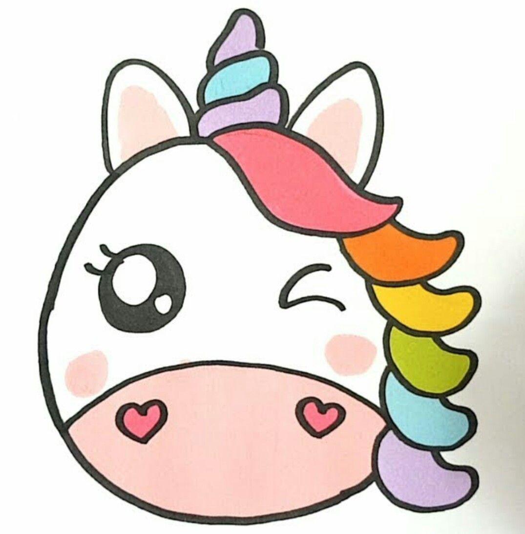 Pin By Camii Torres On Dibujos Kawaii Cute Easy Drawings Cute Kawaii Drawings Unicorn Drawing