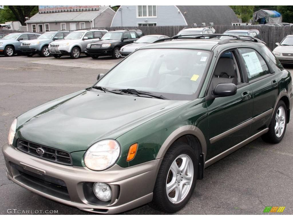 2002 Savanna Green Subaru Impreza Outback Sport Wagon