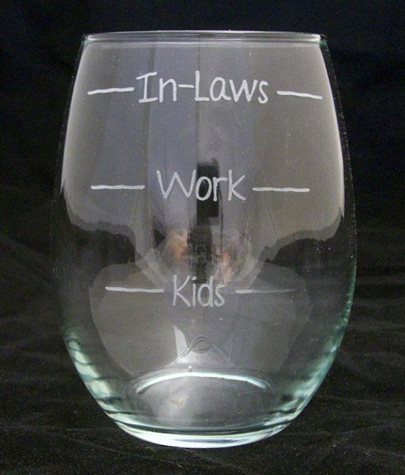 kids work inlaws stemless wine glasses birthday gifts wedding gifts mothers day gifts bridal shower gifts