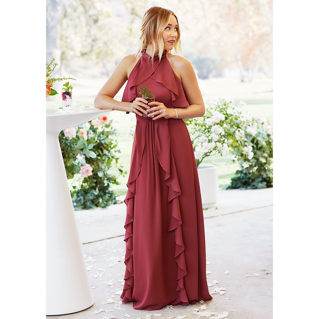 LC Lauren Conrad Dress Up Shop Collection Solid Ruffle Maxi Dress - Women's