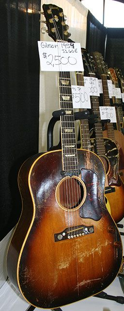 1954 gibson j 160e this spruce top j 160e came from the first year of production of gibson s. Black Bedroom Furniture Sets. Home Design Ideas