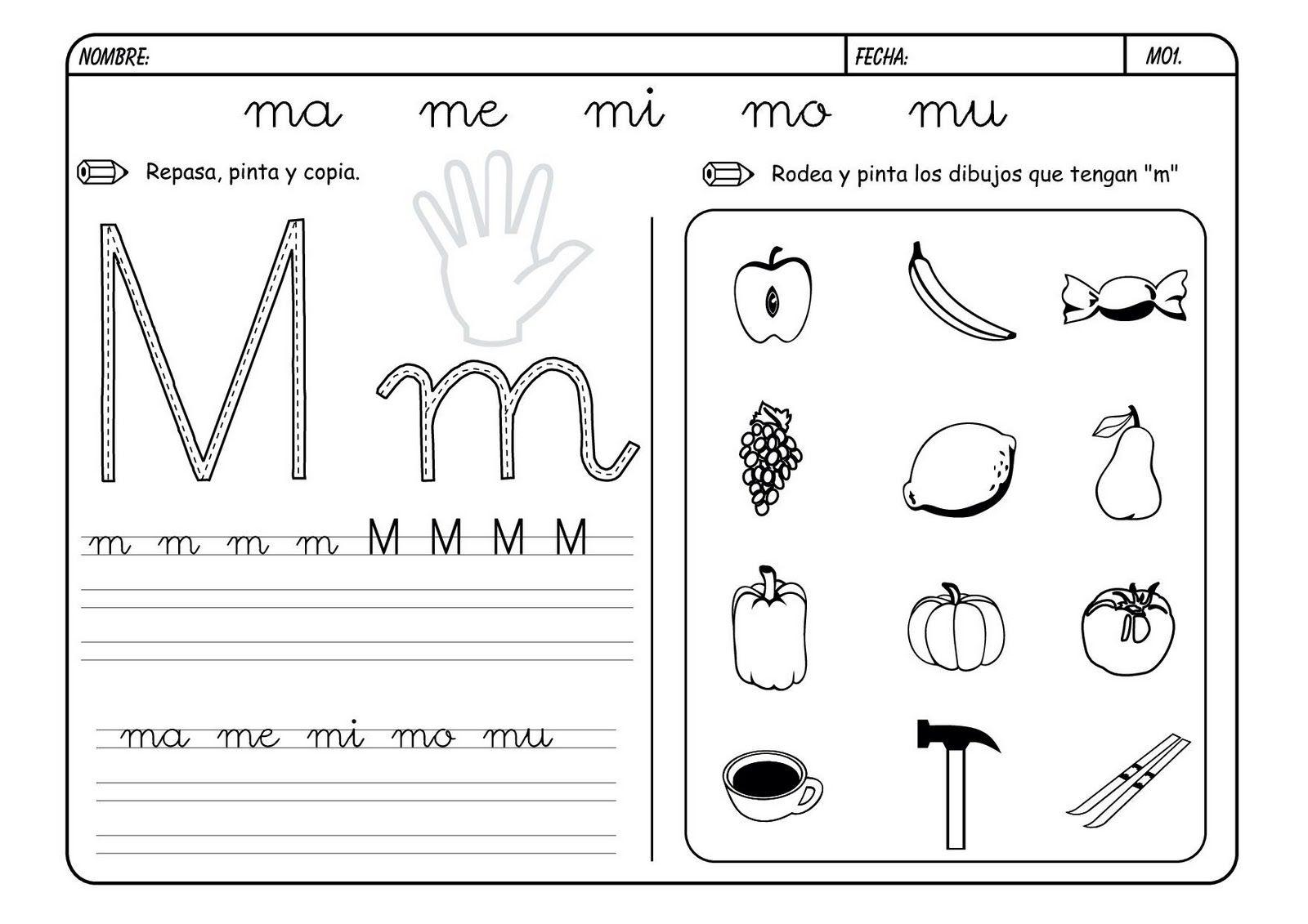 La Letra M M Trazos De Letras Actividades De Letras Letra M
